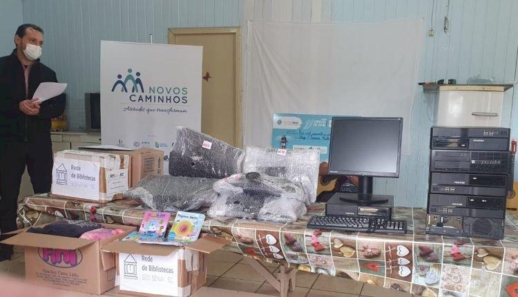 FIESC realiza doações para Programa Novos Caminhos em Lebon Régis