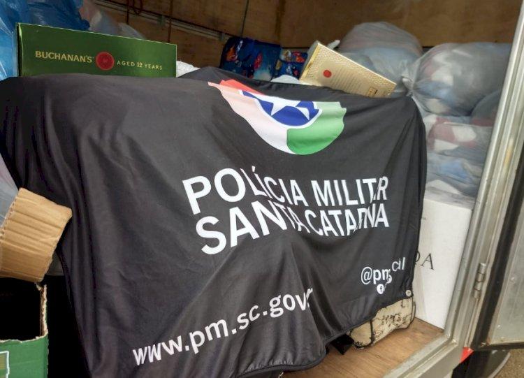 POLÍCIA RODOVIÁRIA ESTADUAL DE LEBON RÉGIS APREENDE MERCADORIA DO PARAGUAI